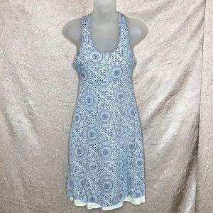 Soybu Blue Print Athletic Dress Size Small